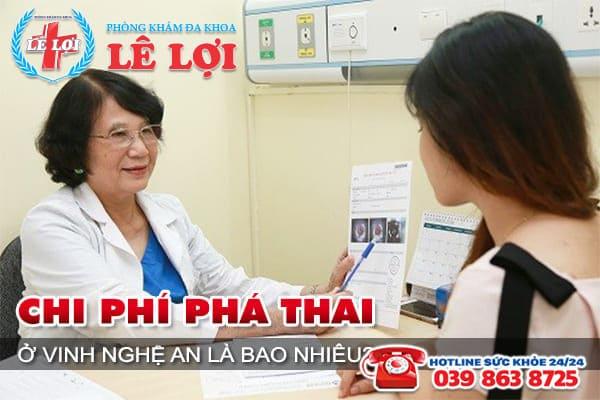 Chi phí phá thai ở Vinh Nghệ An là bao nhiêu?