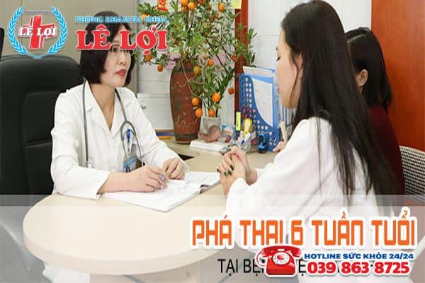 Phá thai 6 tuần tuổi tại bệnh viện Hà Tĩnh