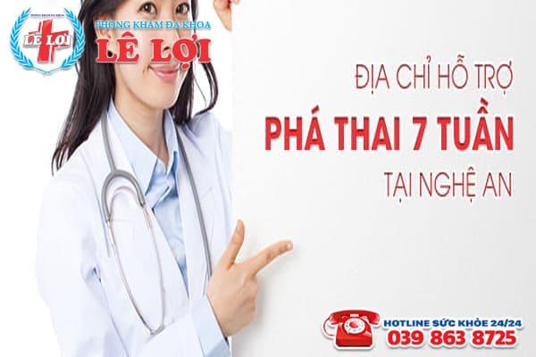 Phòng khám Lê Lợi - Địa chỉ hỗ trợ phá thai 7 tuần tại Nghệ An