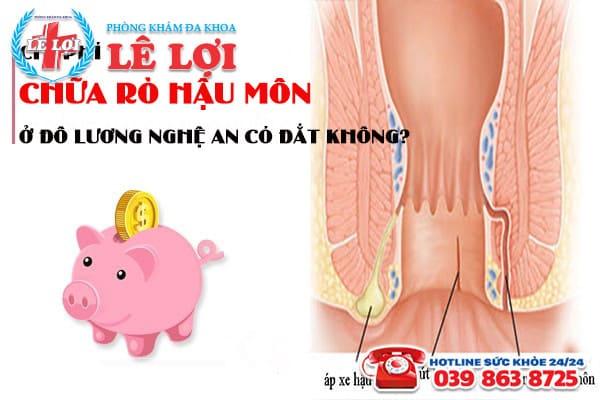 Chi phí chữa rò hậu môn ở Đô Lương Nghệ An có đắt không?