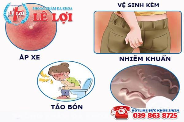 Những nguyên nhân hàng đầu gây ra bệnh rò hậu môn