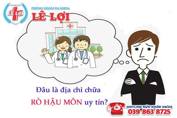 Địa chỉ chữa rò hậu môn hiệu quả tại TP Vinh Nghệ An