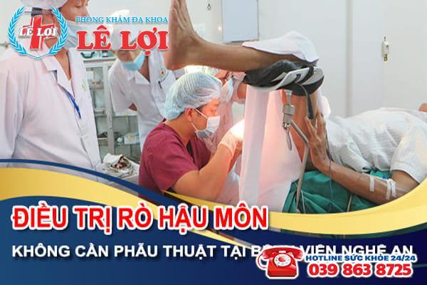 Điều trị rò hậu môn không cần phẫu thuật tại bệnh viện Nghệ An