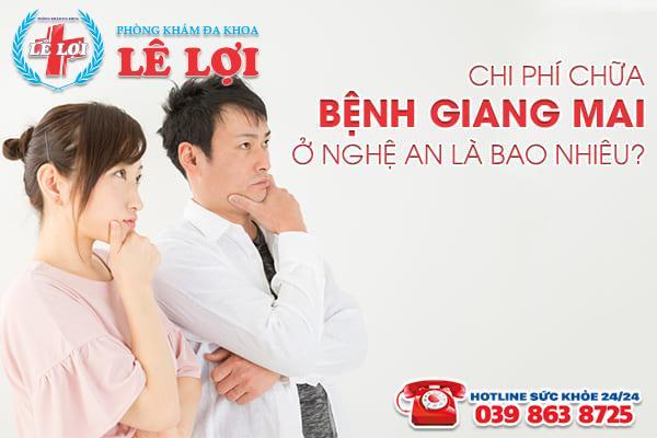 Chi phí chữa bệnh giang mai ở Nghệ An là bao nhiêu?