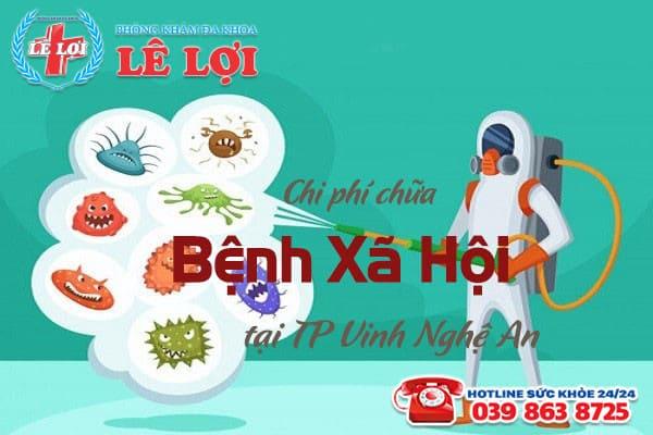 Chi phí chữa bệnh xã hội ở TP Vinh tỉnh Nghệ An