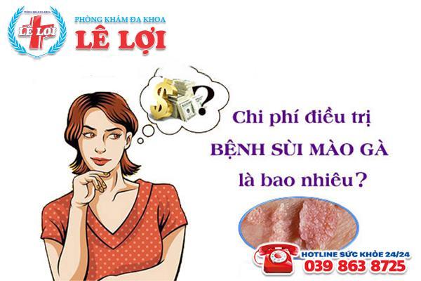 Chi phí chữa sùi mào gà ở TP Vinh Nghệ An là bao nhiêu?