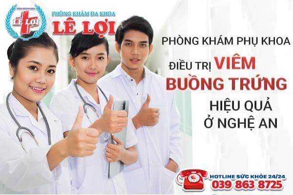 Phòng khám phụ khoa điều trị viêm buồng trứng hiệu quả ở Nghệ An