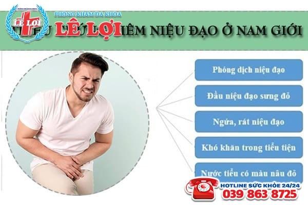 Các triệu chứng viêm niệu đạo ở nam giới