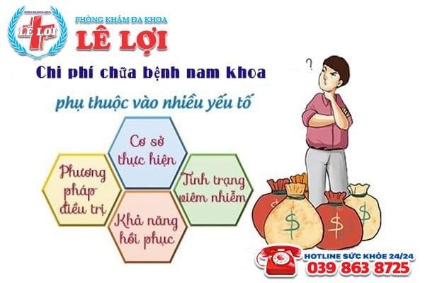 Chi phí chữa bệnh nam khoa ở Đô Lương Nghệ An