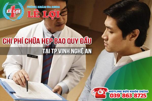 Chi phí chữa hẹp bao quy đầu tại TP Vinh Nghệ An