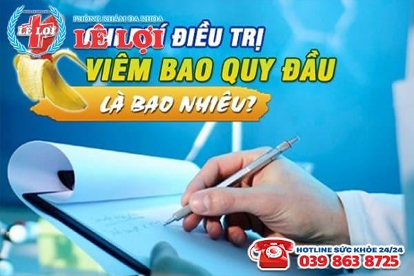 Chi phí chữa viêm bao quy đầu ở Nam Đàn Nghệ An là bao nhiêu?