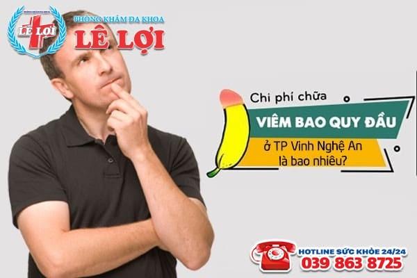 Chi phí chữa viêm bao quy đầu ở TP Vinh Nghệ An
