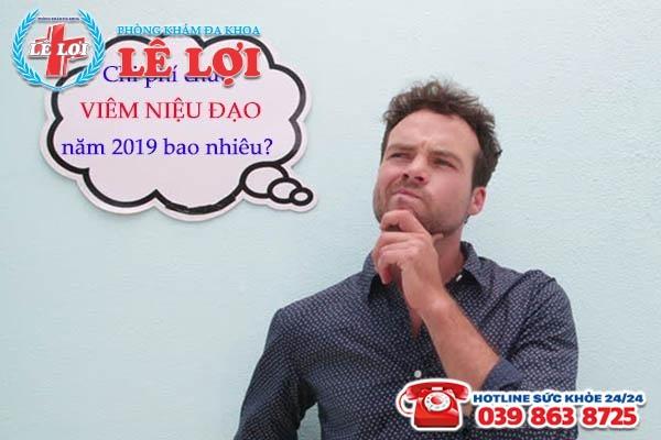 Chi phí chữa viêm niệu đạo tại TP Vinh Nghệ An năm 2019