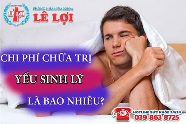 Chi phí chữa yếu sinh lý ở Đô Lương Nghệ An là bao nhiêu?