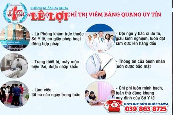 Địa chỉ chữa trị viêm bàng quang hiệu quả tại TP Vinh Nghệ An