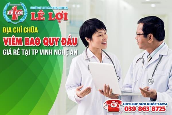 Địa chỉ chữa viêm bao quy đầu giá rẻ tại TP Vinh Nghệ An