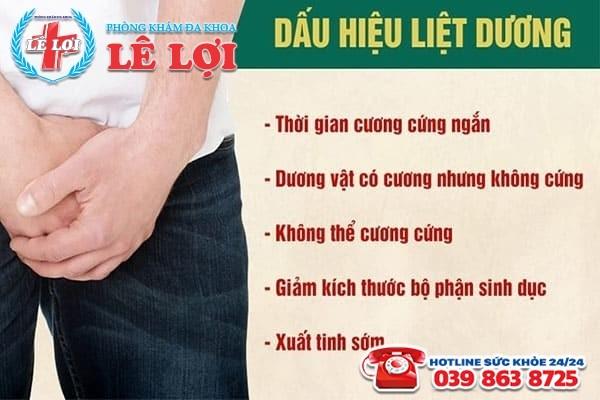 Những triệu chứng liệt dương ở đàn ông