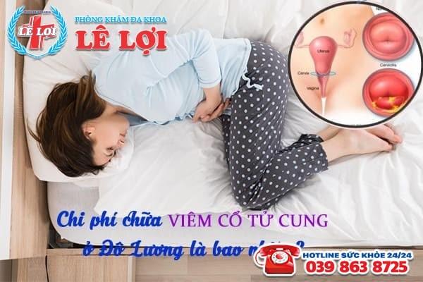 Chi phí chữa viêm cổ tử cung ở Đô Lương Nghệ An là bao nhiêu?