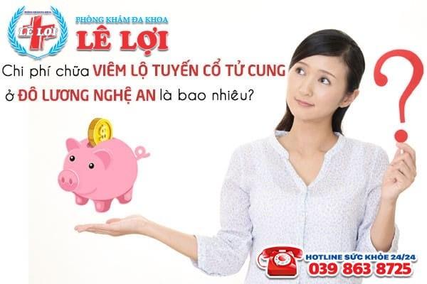 Chi phí chữa viêm lộ tuyến cổ tử cung ở Đô Lương Nghệ An năm 2020