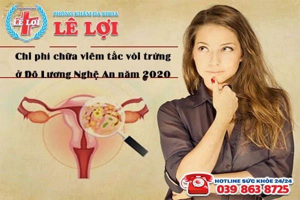 Chi phí chữa viêm tắc vòi trứng ở Đô Lương Nghệ An năm 2020