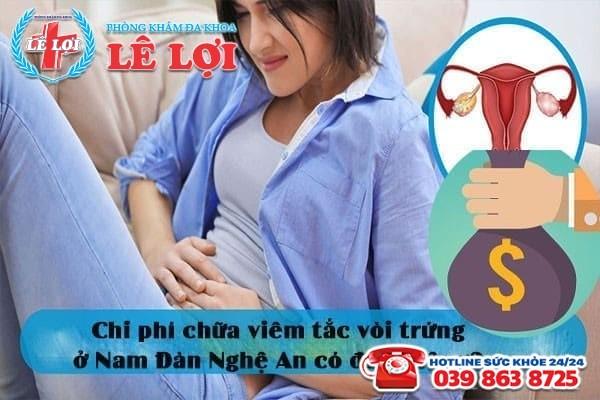 Chi phí chữa viêm tắc vòi trứng ở Nam Đàn Nghệ An có đắt không?