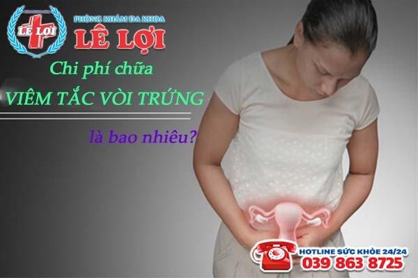 Chi phí khám chữa bệnh viêm tắc vòi trứng là bao nhiêu?