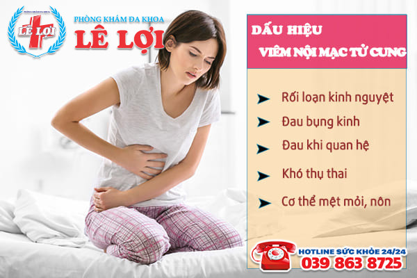 Dấu hiệu viêm nội mạc tử cung ở phái nữ