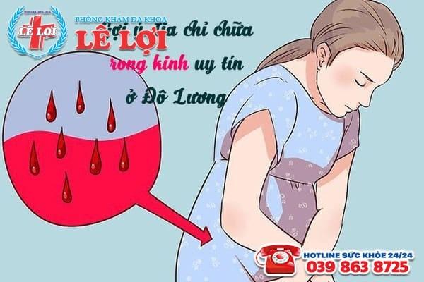 Địa chỉ chữa rong kinh uy tín ở Đô Lương Nghệ An