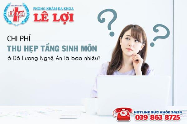 Chi phí thu hẹp tầng sinh môn ở Đô Lương Nghệ An là bao nhiêu?