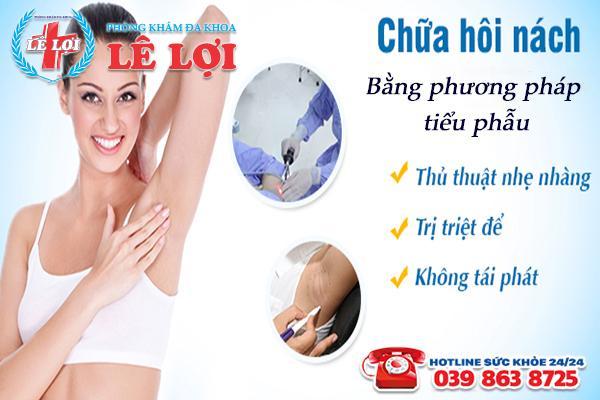 Địa chỉ chữa hôi nách hiệu quả tại TP Vinh Nghệ An