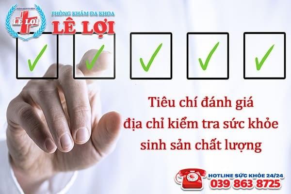 Địa chỉ kiểm tra sức khỏe sinh sản uy tín ở Thanh Chương Nghệ An