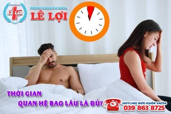 Thời gian quan hệ bao lâu là đủ?