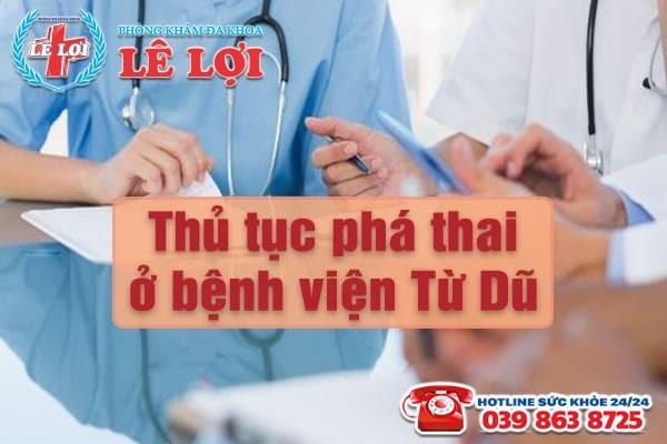 TPHCM - Thủ tục phá thai ở bệnh viện Từ Dũ